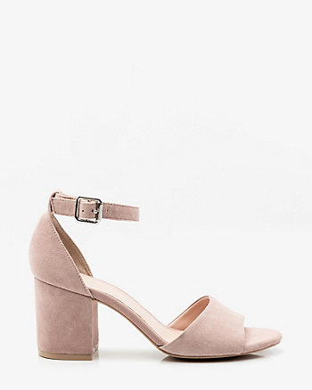 Suede Ankle Strap Sandal