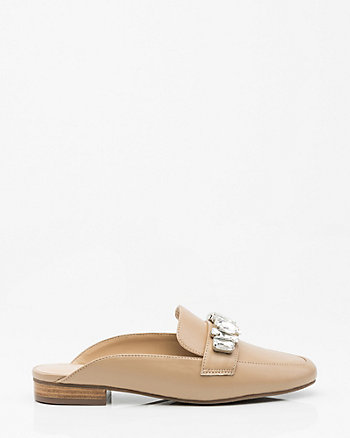 Jewelled Loafer Mule