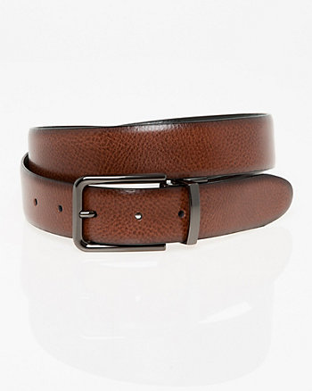 Reversible Leather Prong Belt