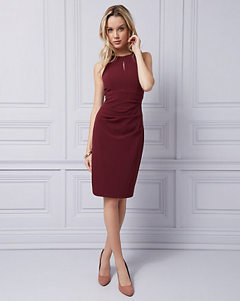 Knit Crêpe Halter Dress