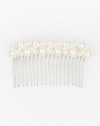Pearl-Like Hair Comb