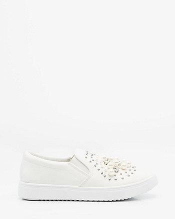 Pearl Embellished Slip-On Sneaker