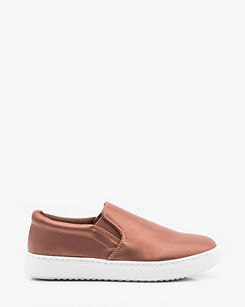 Satin Slip-On Sneaker