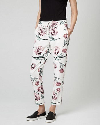 Floral Print Drawstring Track Pant