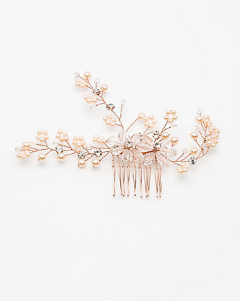 Floral Gem Hair Comb