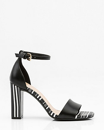 Stripe Ankle Strap Sandal