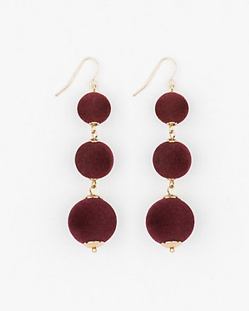 Velvet Ball Drop Earrings