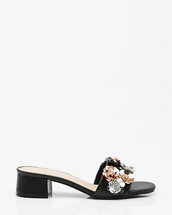 Floral Embellished Slide