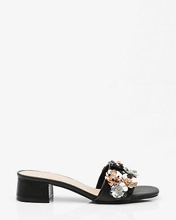 Floral Embellished Slide