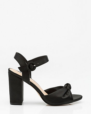 Knotted Satin Sandal