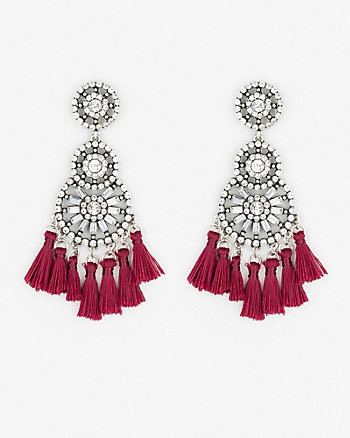 Gem & Tassel Earrings