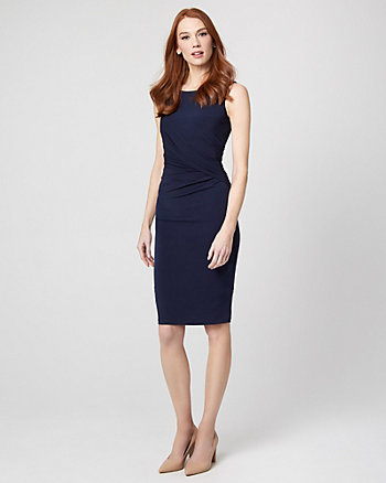 Knit Pleated Sheath Dress