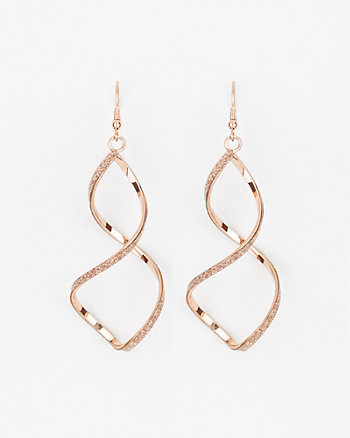 Glitter Twist Earrings