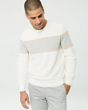 Stripe Knit Crew Neck Sweater