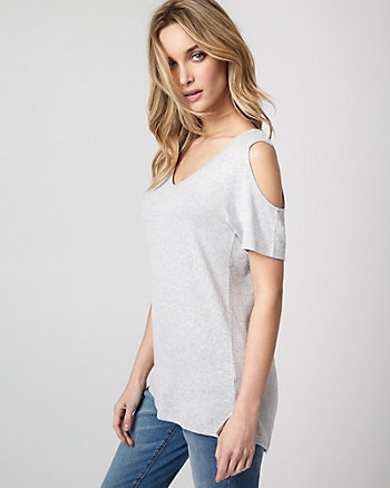Jersey Knit Cold Shoulder Top