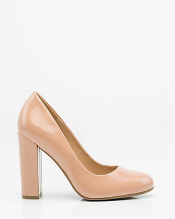 Patent Almond Toe Pump