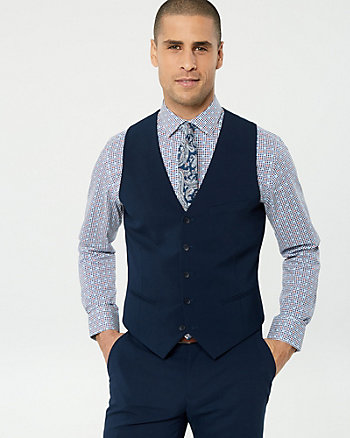 Wool Blend Contemporary Fit Vest