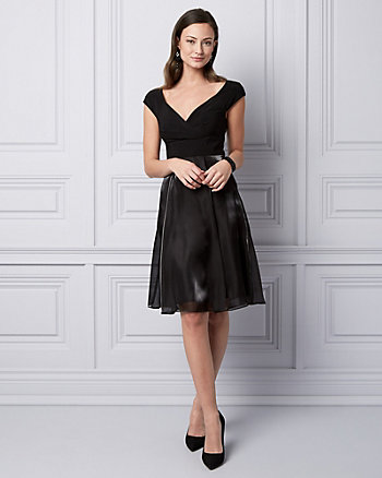 Organza Fit & Flare Cocktail Dress