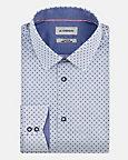 Geo Print Stretch Cotton Athletic Fit Shirt
