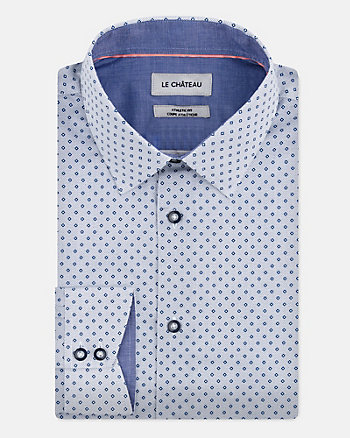 Chemise à motif en coton