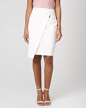 Viscose Blend Asymmetrical Pencil Skirt