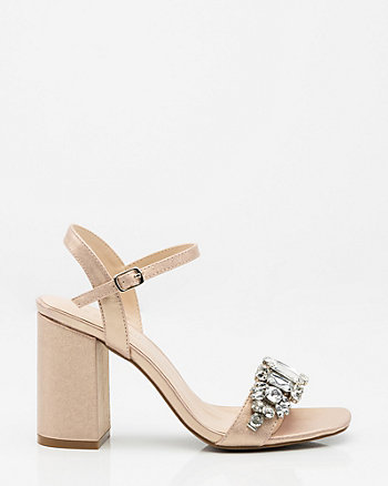 Jewel Embellished Open Toe Sandal