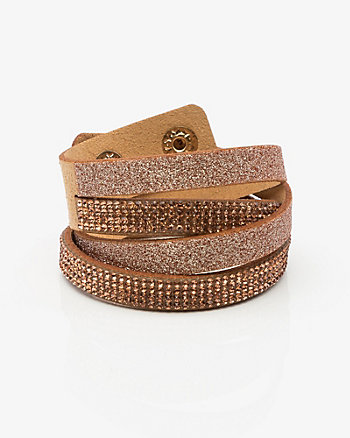 Gem & Glitter Wrap Bracelet