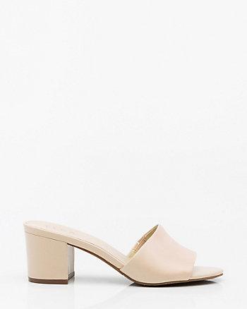Leather Open Toe Slide
