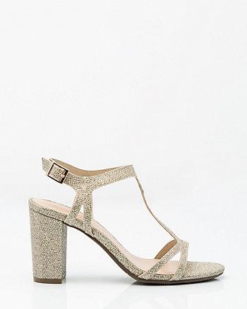 Glitter Strappy T-Sandal