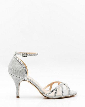 Jewel & Mesh Ankle Strap Sandal