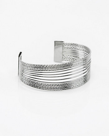 Etched Open Cuff Bracelet