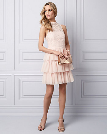 Lace & Tulle Tiered Party Dress