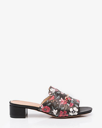 Floral Print Open Toe Slide