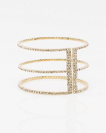 Gem Open Cuff Bracelet
