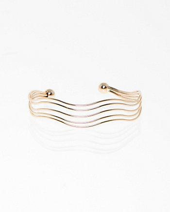 Wavy Open Cuff Bracelet