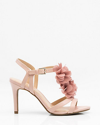 Floral T-Strap Sandal