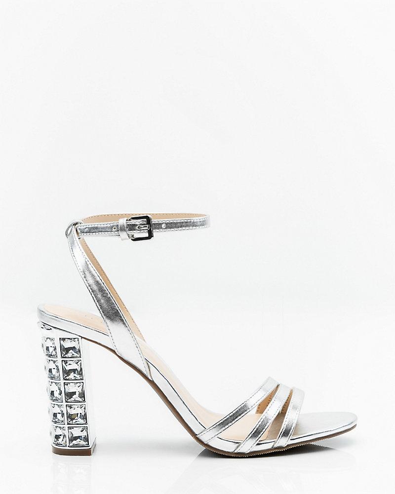74e2ff3905a Jewel Embellished Block Heel Sandal