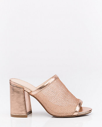 Mesh Open Toe Slide