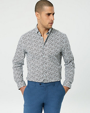 Floral Stretch Cotton Tailored Fit Shirt
