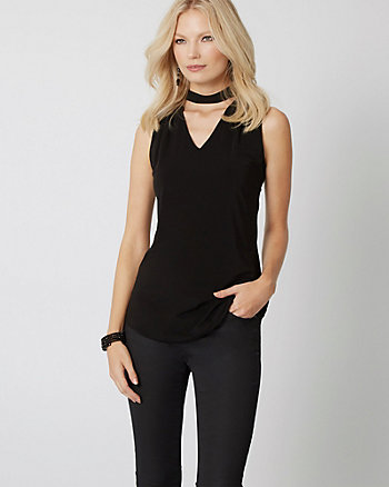 Knit Choker Neck Top