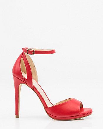 Cutout Ankle Strap Sandal