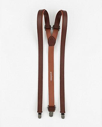 Grain Leather Suspenders