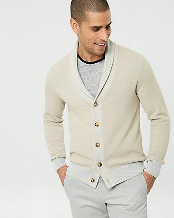 Cardigan à col châle en tricot