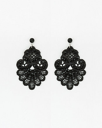 Beaded Lace Earrings