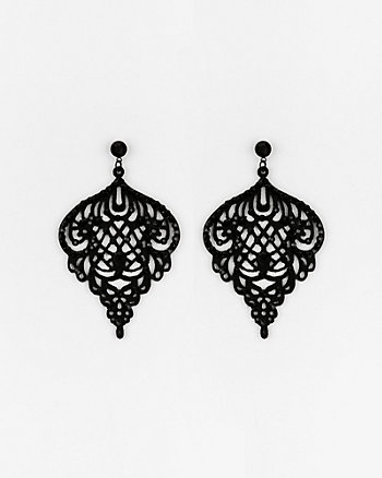 Laser Cut Gem Earrings