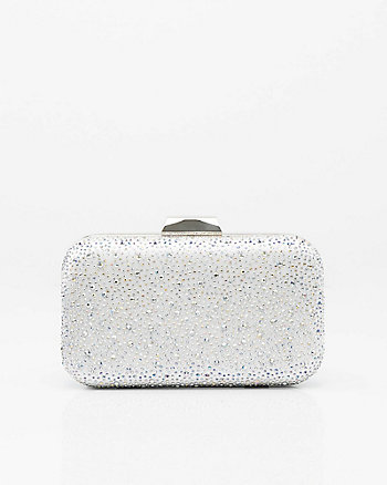 Jewel Embellished Satin Minaudière