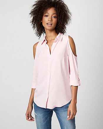 Challis Cold Shoulder Shirt