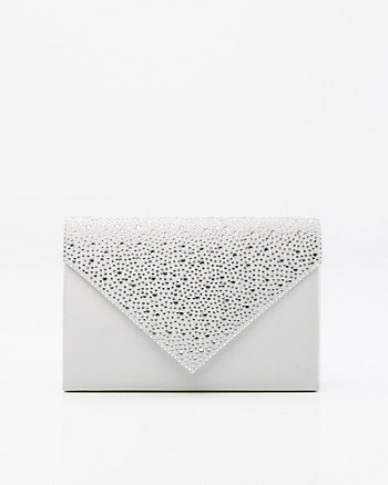 Pochette enveloppe en satin et pierres
