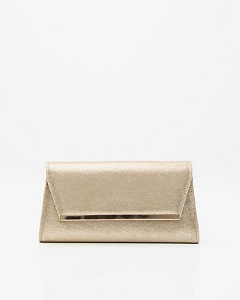 Suede-Like Envelope Clutch