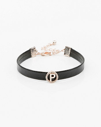 Faux Leather Initial Bracelet (N-Z)